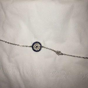 Jewelry - Evil eye and hand bracelet